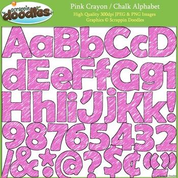 Pink Crayon Alphabet