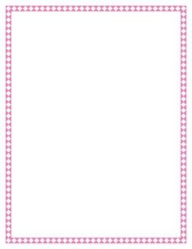 Pink Diamond Border Set