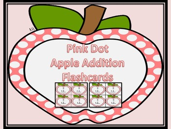 Pink Dot Apple Addition Flashcards 0-12