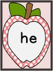 Pink Dot Apple  Dolch Primer Sight Word Flashcards and Posters