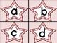 Pink Dot Star Alphabet Letter Flashcards
