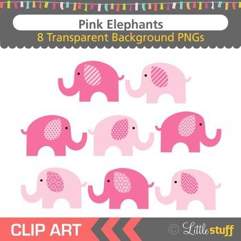 Pink Elephant Clipart, Elephant Clip Art