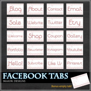 Pink Facebook Tabs FB Icons Flowers Timeline Cute Floral E