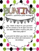 Pink, Green, and Black Buntings- Customize Your Own Banner!