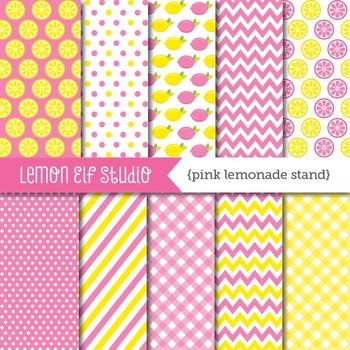 Pink Lemonade Stand-Digital Paper (LES.DP15)