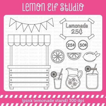 Pink Lemonade Stand-Digital Stamp (LES.DS15)