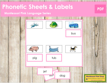 Pink: Phonetic Sheets and Labels