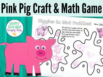 Pink Pig Craft & Math Game: Pre-K, Transitional Kinder, & Kinder