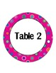 Pink Polka Dot Multi Table Signs