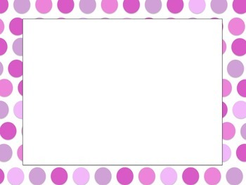 Pink Polka Dot Task Card Templates