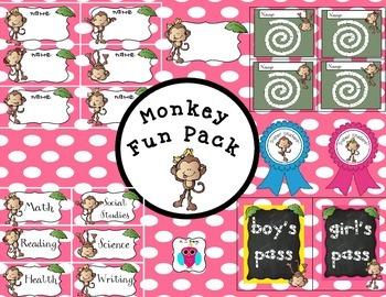 Pink Polka Dots Monkey Fun Pack