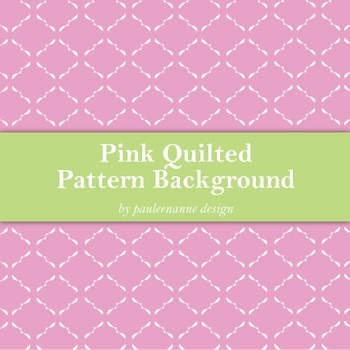 Pink Quilted Pattern Background