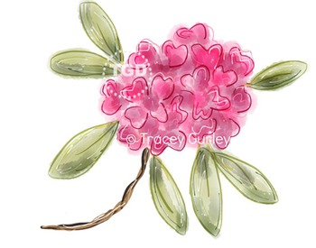 Pink Rhododendron clip art, pink rhododendron Printable Tr