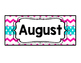 Pink & Teal Months & Dates for Calendar