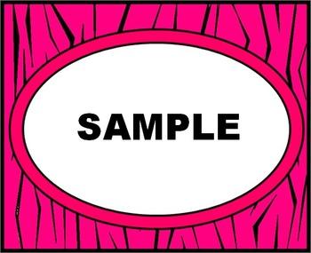 Pink Tiger Labels