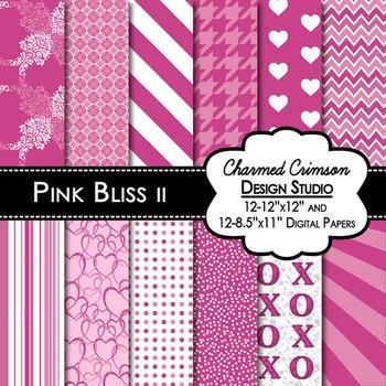 Pink Valentines Digital Paper
