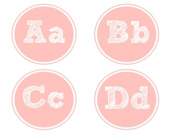Pink Word Wall Letters