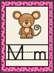 ~Pink and Black Alphabet Wall Cards with Activities ~