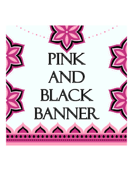 Pink and Black Banner