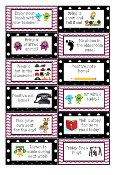 Pink and Black Polk-a-Dot Reward Coupons