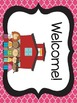 Black and Pink Quatrefoil Classroom Theme Kit- Now with Ed