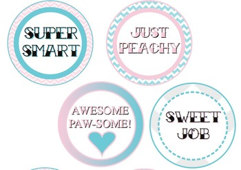 Pink and Blue CupCake Toppers