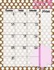 Pink and Brown Polka Dot Calendar July 2014 - July 2015