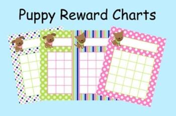 Pink and Green Puppy Incentive Reward Charts