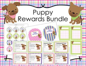 Pink and Green Puppy Incentive Rewards Bundle