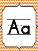 Pink and Orange Chevron Themed Alphabet Banner