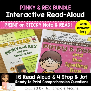 Reading Comprehension and Interactive Read Aloud - Pinky a