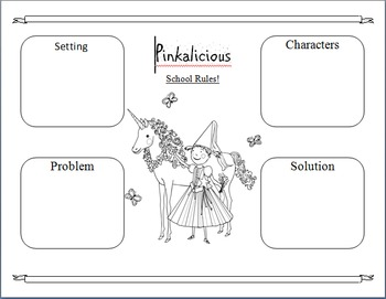 Pinkalicious School Rules Graphic Organizer