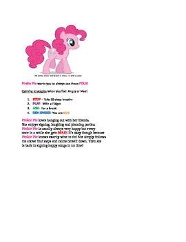 Self Calming Behavior Plan: Pinkie Pie