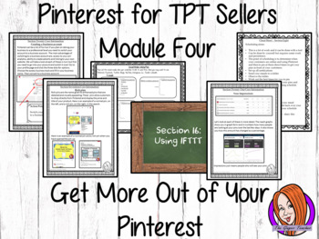 Pinterest for TPT Sellers – Module Four: Getting More From