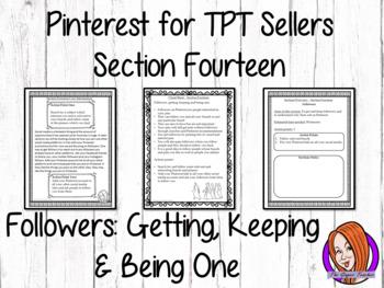 Pinterest for TPT Sellers – Section 14: Followers - Gettin