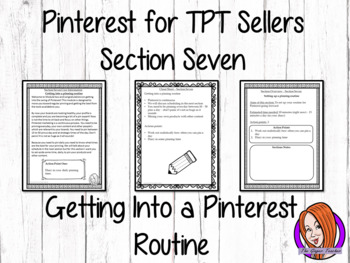 Pinterest for TPT Sellers – Section Seven: Getting Into a