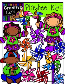 Pinwheel KIDS {Creative Clips Digital Clipart}