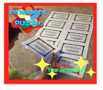 Pinwheel Vocabulary Puzzle...Life Sized