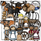 Pioneer Clipart Bundle