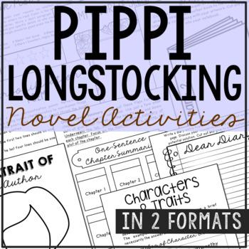 Pippi Longstocking Novel Unit Study Activities, Book Repor