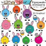 Pipsqueaks All Dressed Up for Easter Clip Art: Graphics fo