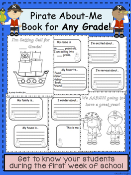 Pirate All About Me Book