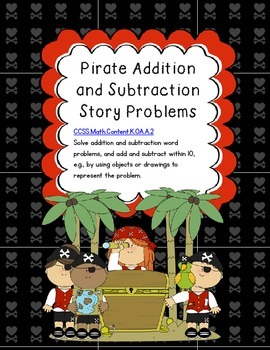 Pirate Addition and Subtraction Story Problems