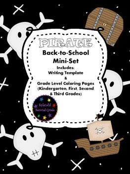 Pirate Back-To-School Mini-Set: Writing Template and Color