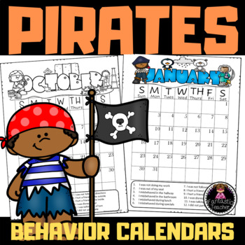 Pirate Behavior Calendars (EDITABLE) 2106-2017
