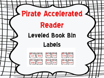 Pirate Book Bin Leveled Labels