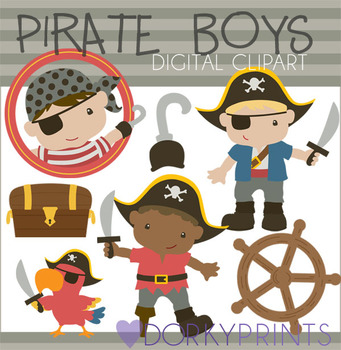 Pirate Boys Digital Clip Art