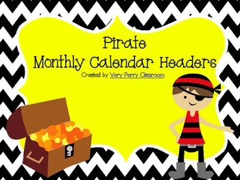 Pirate Calendar Headers