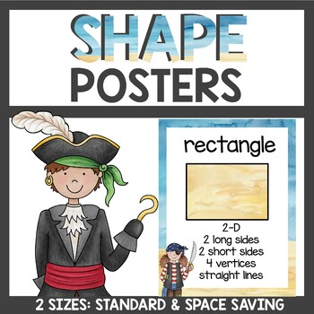 Pirate Classroom Decor 2d and 3d Shape Posters