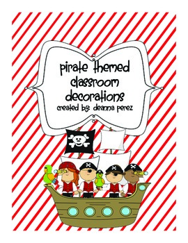 Pirate Classroom Theme Bundle!